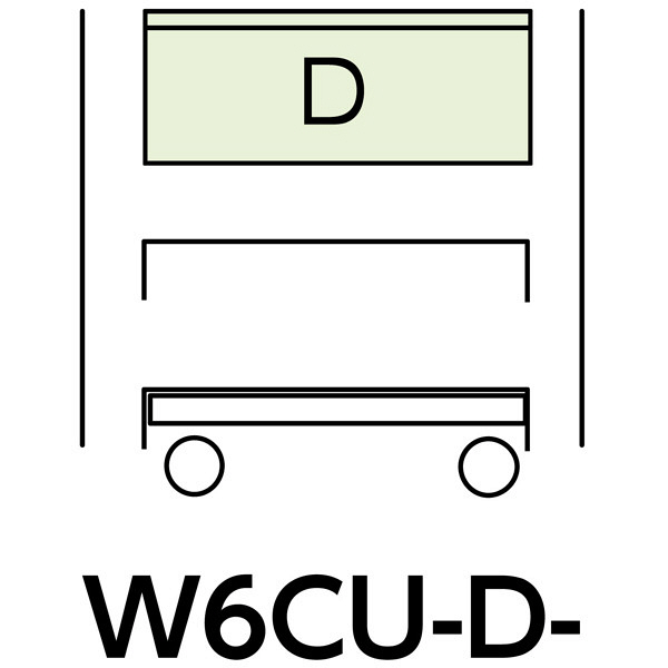 スペシャルワゴン600x400移動式 W6CU-D-IV (直送品)