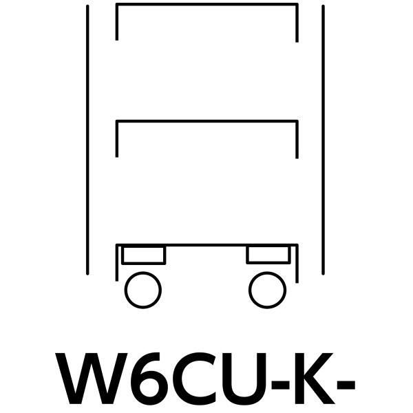 スペシャルワゴン600x400移動式 W6CU-K-G (直送品)