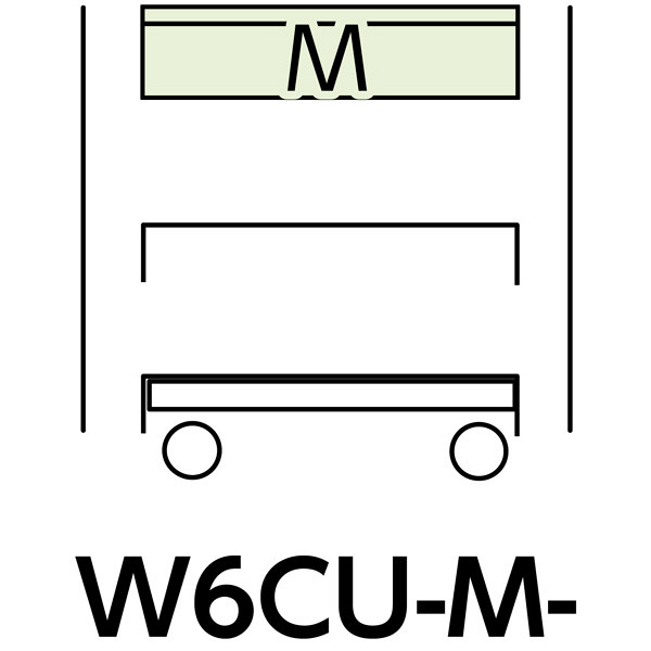 スペシャルワゴン600x400移動式 W6CU-M-G (直送品)