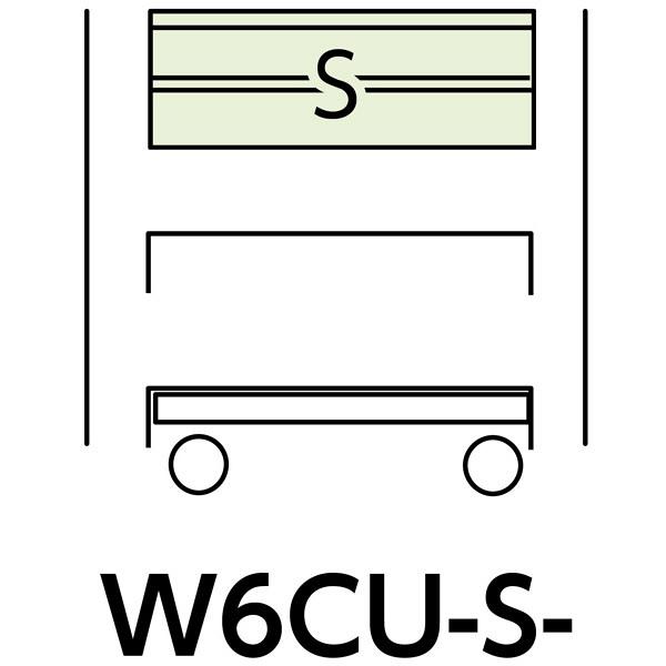 スペシャルワゴン600x400移動式 W6CU-S-IV (直送品)