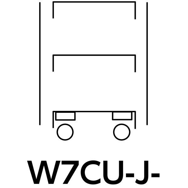 スペシャルワゴン750x500移動式 W7CU-J-G (直送品)