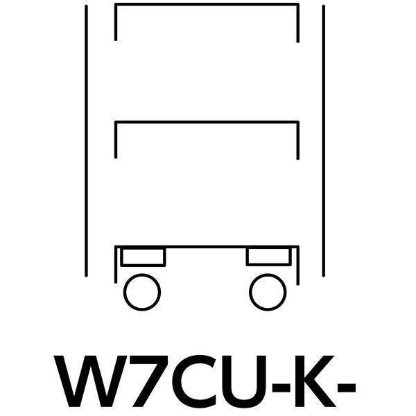 スペシャルワゴン750x500移動式 W7CU-K-G (直送品)