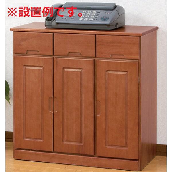ファミリー・ライフ 木製カウンターワゴン 幅700mm ブラウン 1台 (直送品)