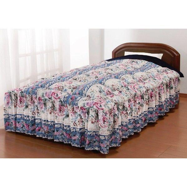 マイヤー毛布地ベッド布団 ダブル ブルー