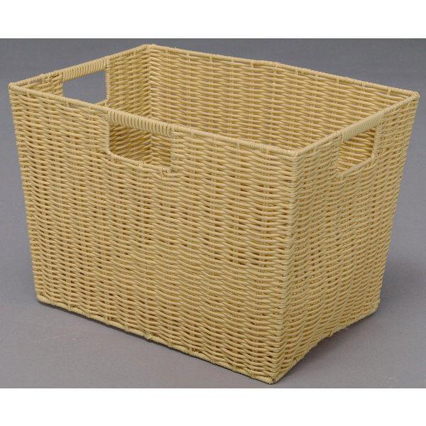 アイリスオーヤマ カラー編みバスケット ベージュ KAB-38D 1セット(6個) (直送品)