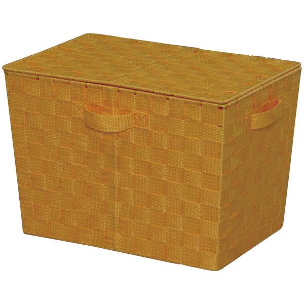アイリスオーヤマ カラーバスケット フタ付 オレンジ CBK-38DT 1個 (直送品)