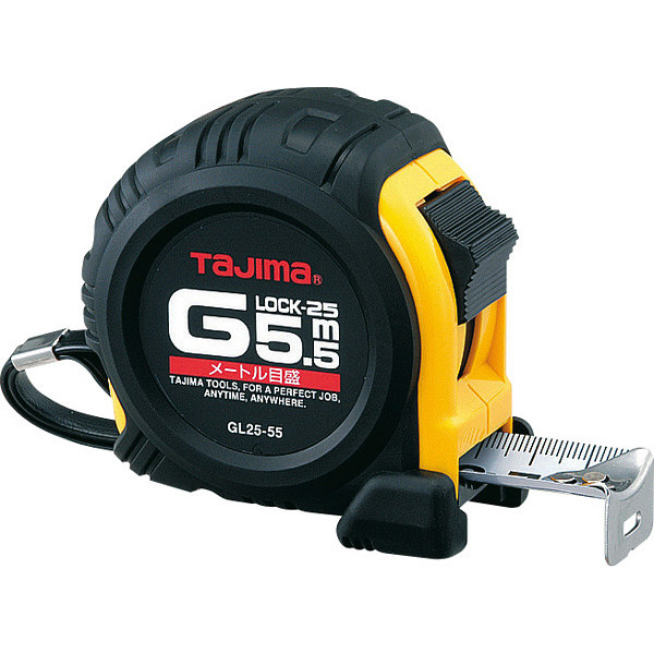 タジマ コンベックス Gロック-25 5.5m 25mm幅 メートル目盛 GL25-55BL メジャー