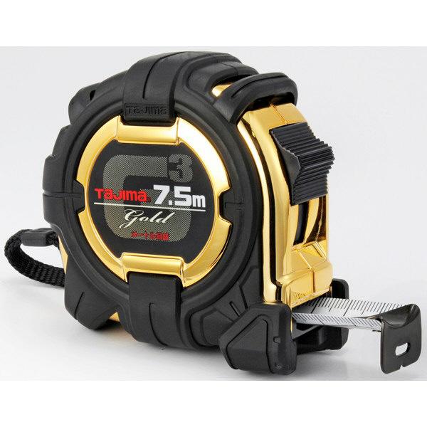 タジマ コンベックス G3ゴールドロック-25 7.5m 25mm幅 メートル目盛 G3GL25-75BL メジャー