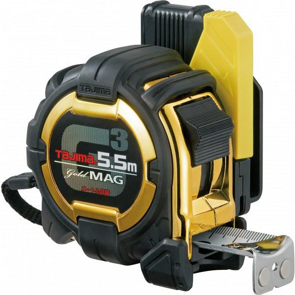 タジマ コンベックス セフコンベ G3ゴールドロックマグ爪25 5.5m 25mm幅 メートル目盛 SFG3GLM25-55BL メジャー (直送品)