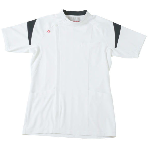 ルコックスポルティフ メンズケーシージャケット(医務衣) ホワイト×ネイビー EL UQM1007 1枚 (直送品)