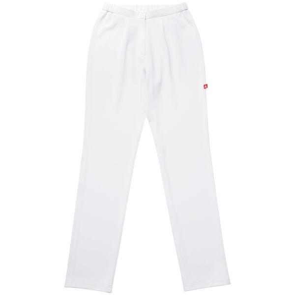 ルコックスポルティフ スリムストレッチパンツ ホワイト L UQW2034 ナースパンツ レディスパンツ (直送品)