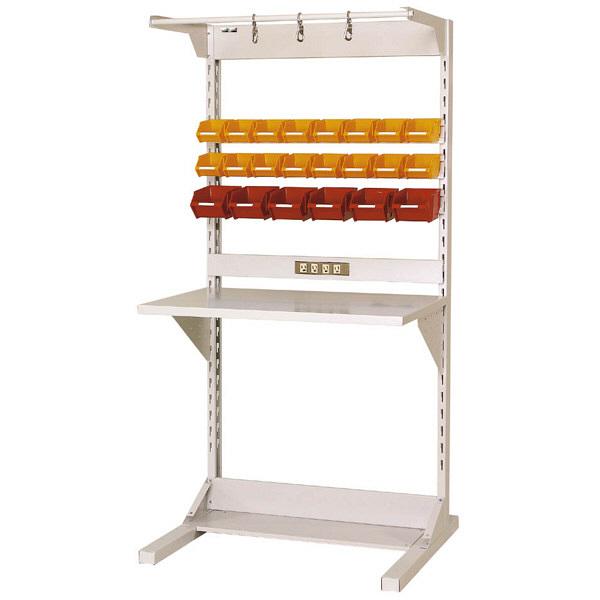 ラインテーブル W900サイズ片面単体 作業台 HRK-0918-FYC 山金工業 (直送品)