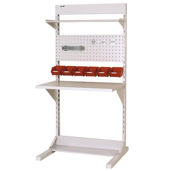 ラインテーブル W900サイズ片面単体 作業台 HRK-0918-TPY 山金工業 (直送品)