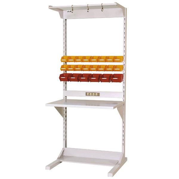 ラインテーブル W900サイズ片面単体 作業台 HRK-0921-FYC 山金工業 (直送品)