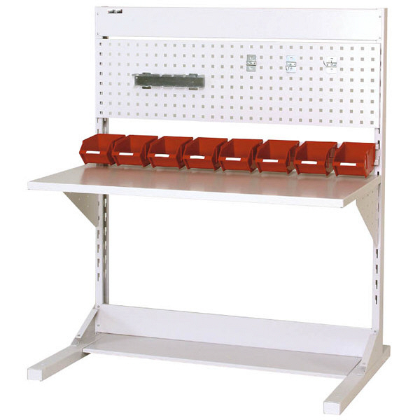 ラインテーブル W1200サイズ片面単体 作業台 HRK-1213-PY 山金工業 (直送品)
