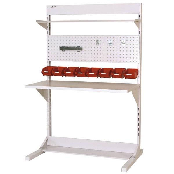 ラインテーブル W1200サイズ片面単体 作業台 HRK-1218-TPY 山金工業 (直送品)