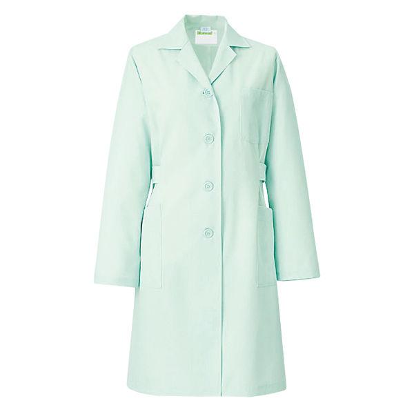 KAZEN 医療白衣 レディス薬局衣(ハーフ丈) シングル 長袖 261 ミントグリーン S ドクターコート 薬局衣 1枚 (直送品)