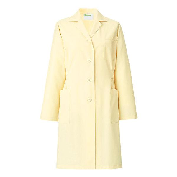 KAZEN レディス薬局衣(ハーフ丈) ドクターコート 医療白衣 長袖 クリーム シングル L 261 (直送品)