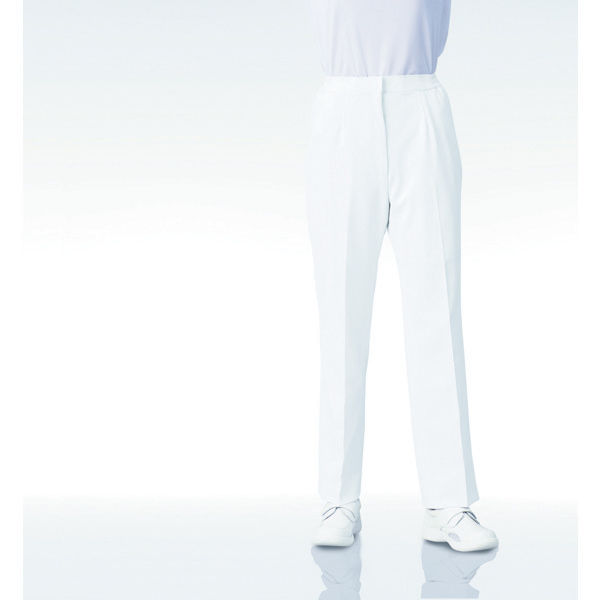 KAZEN レディススラックス 192 ホワイト LL 白衣 1枚 (直送品)