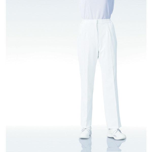 KAZEN レディススラックス 192 ホワイト 3L 白衣 1枚 (直送品)