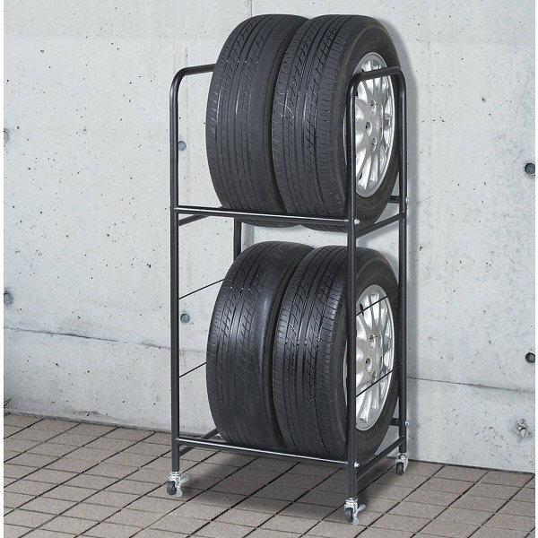ファミリーライフ タイヤスタンド(専用カバー付き)幅583mm 62862 1台 (直送品)