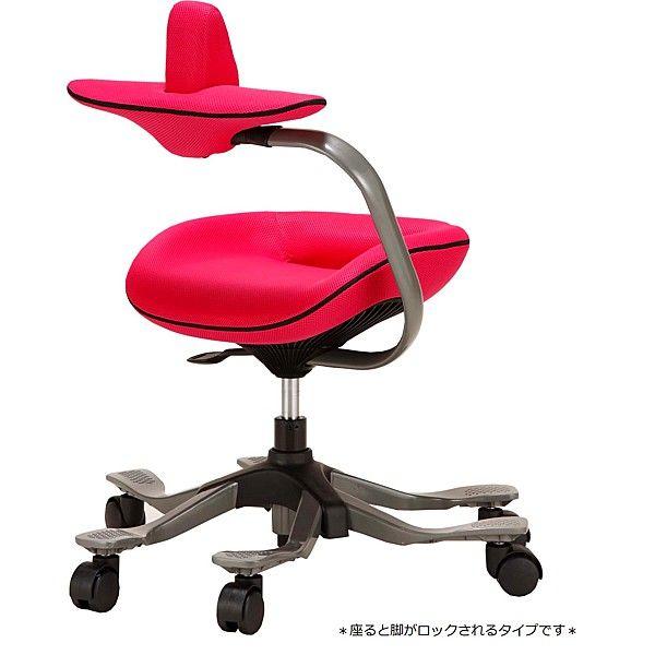 吉桂 iPole5(アイポール5) オフィスチェア ストッパー付キャスター ファブリック ピンク J0088 1脚 (直送品)