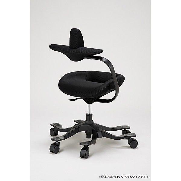 吉桂 iPole5(アイポール5) オフィスチェア ストッパー付キャスター ファブリック ブラック J0090 1脚 (直送品)