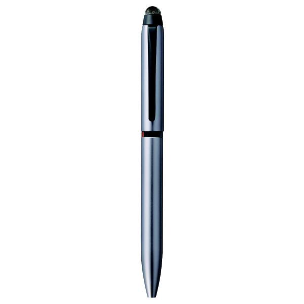 ジェットストリームスタイラス タッチペン付 3色ボールペン 0.5mm シルバー SXE3T1800-05 三菱鉛筆uni (直送品)