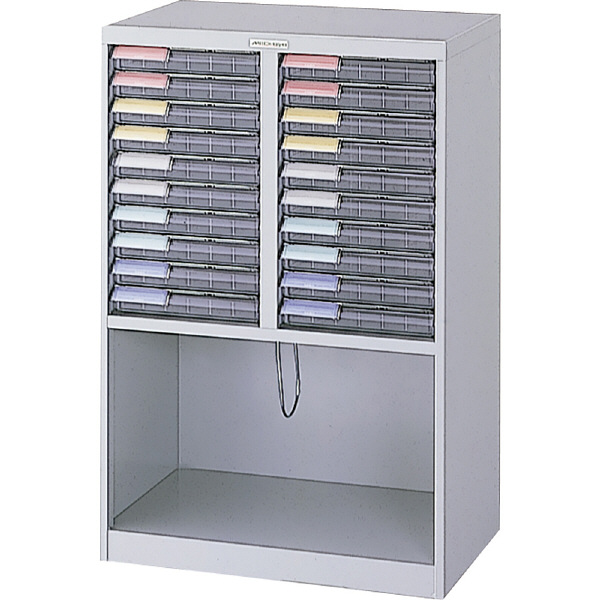 ナカバヤシ メディシス フロアケース フロアタイプA4 H1200 S×20 幅600×奥行370×高さ900mm MAF-W111N 1台 (直送品)