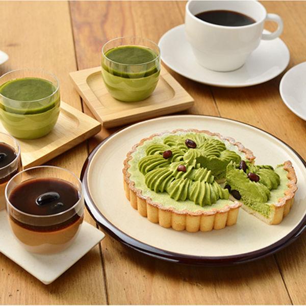 宇治抹茶レアチーズタルトとプリン(取寄)