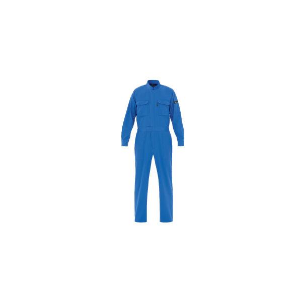 ミドリ安全 つなぎ ベルデクセルフレックス T/C 帯電防止ツナギ服VE413 ブルー M 3118100904 1点(直送品)