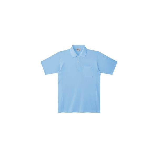 ミドリ安全 作業用ワークシャツ ベルデクセルフレックス エコ帯電防止半袖ポロシャツ PS12上 サックス SS 3120141802 1点(直送品)