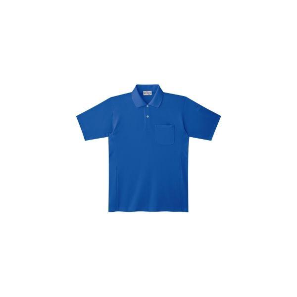 ミドリ安全 作業用ワークシャツ エコ帯電防止 半袖ポロシャツ PS13上ロイヤルブルー 3120141903 1点(直送品)