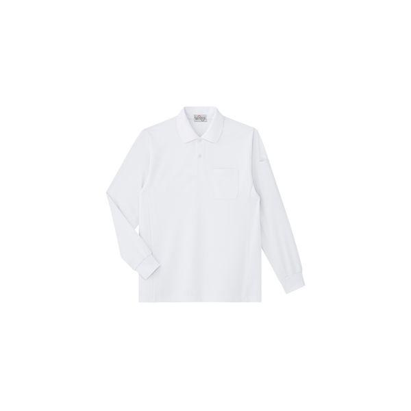 ミドリ安全 作業用ワークシャツ ベルデクセルフレックス エコ帯電防止長袖ポロシャツ PS210 ホワイト 3120142303 1点(直送品)