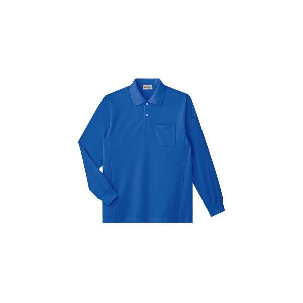 ミドリ安全 作業用ワークシャツ エコ帯電防止 長袖ポロシャツ PS213ロイヤルブルー LL 3120142506 1点(直送品)