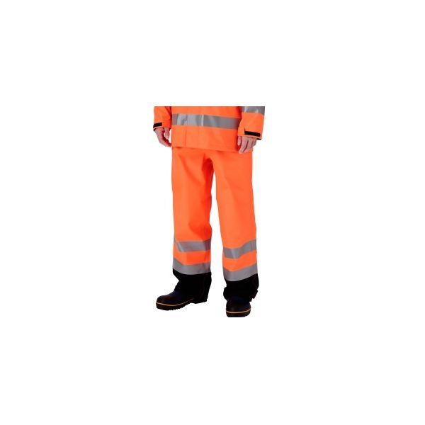 ミドリ安全 雨衣 レインベルデN(R) ゴアテックス(R) 高視認仕様 下衣 蛍光オレンジ LL 1着 4060960440(直送品)