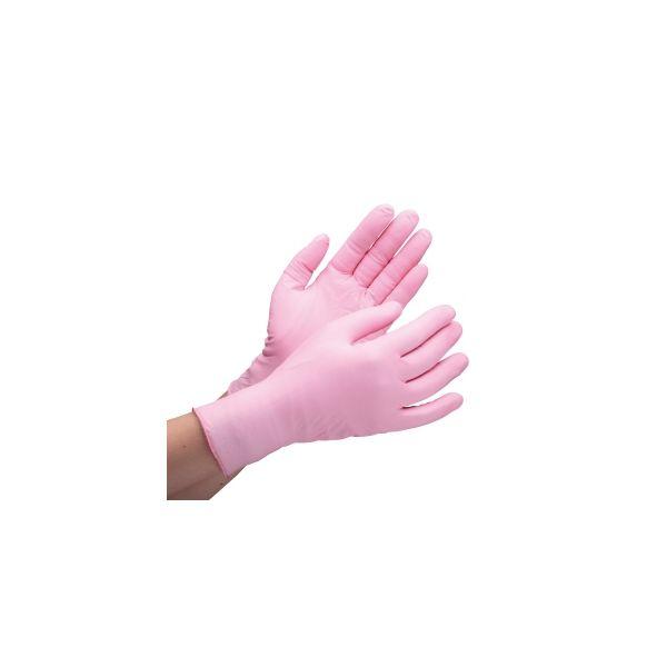ミドリ安全 粉なし 使い捨てニトリル手袋 ニトリル製ディスポ手袋 ベルテ760H ピンク Sパウダーフリー 100枚入 4049168151(直送品)