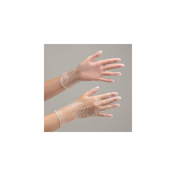 ミドリ安全 使い捨てビニール手袋 ベルテプラテ 841 SS PVC手袋 粉なし(100枚入) 4049491400 1箱(100枚入)(直送品)