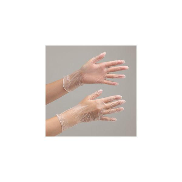 ミドリ安全 使い捨てビニール手袋 ベルテプラテ 841 M PVC手袋 粉なし(100枚入) 4049491420 1箱(100枚入)(直送品)