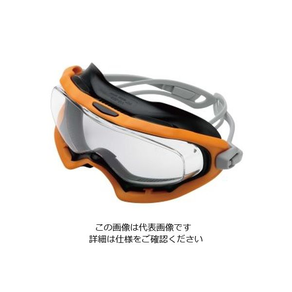 ミドリ安全 曇り止め 一眼型 保護めがね ビジョンベルデ VG-503Fゴーグラス(R) オレンジ 1個 4012700170(直送品)