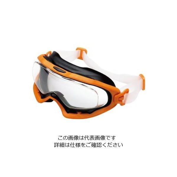 ミドリ安全 曇り止め 一眼型 保護めがね ビジョンベルデ VG-503Fシリコンバンド オレンジ 1個 4012700240(直送品)