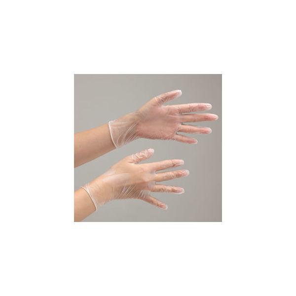 ミドリ安全 使い捨てビニール手袋 ベルテプラテ 843 LL PVC手袋 粉付き(100枚入) 4049491540 1箱(100枚入)(直送品)