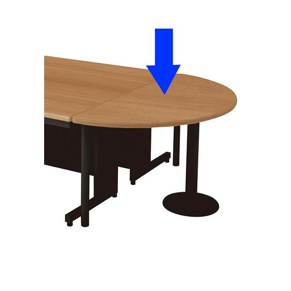 アスクル プラス leed リード 半円形テーブル le 7dt hr t2 bk 幅