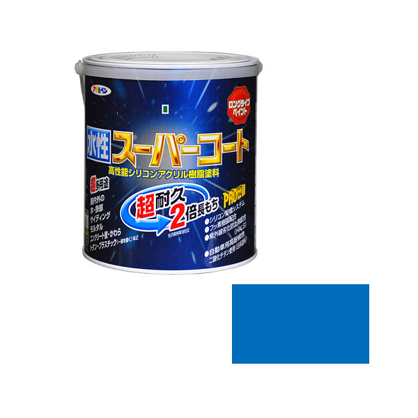 アサヒペン 水性スーパーコート 1.6L 空色 (直送品)
