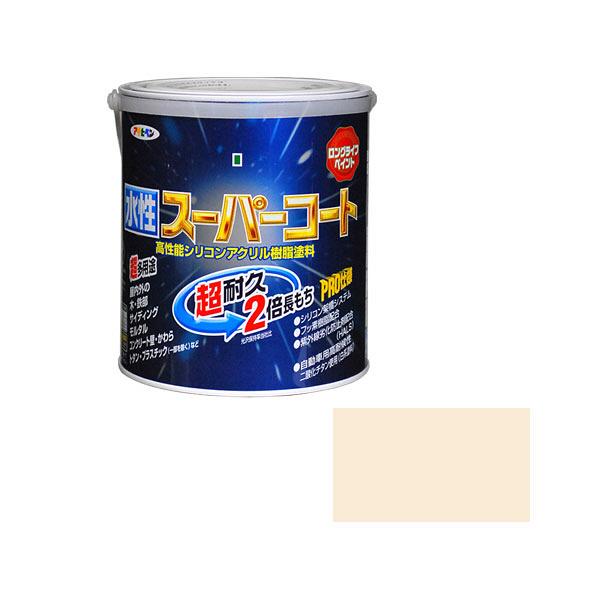 アサヒペン 水性スーパーコート 1.6L ミルキーホワイト (直送品)