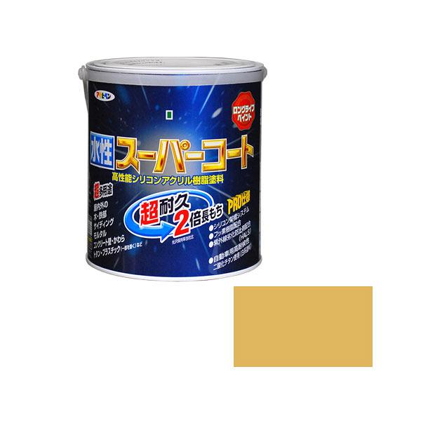 アサヒペン 水性スーパーコート 1.6L ハーベストイエロー (直送品)