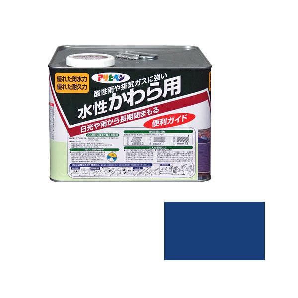 アサヒペン 水性かわら用 7L スカイブルー (直送品)