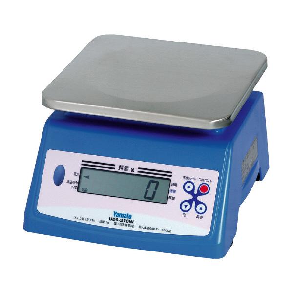 防水型デジタル上皿はかり UDS-210W 2400g 検定品 UDS-210W-2400G-5 大和製衡 (直送品)