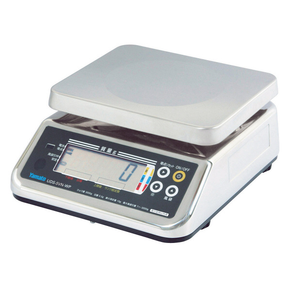 防水型デジタル上皿はかり UDS-5V-WP 6kg 検定品 UDS-5V-WP-6-3 大和製衡 (直送品)