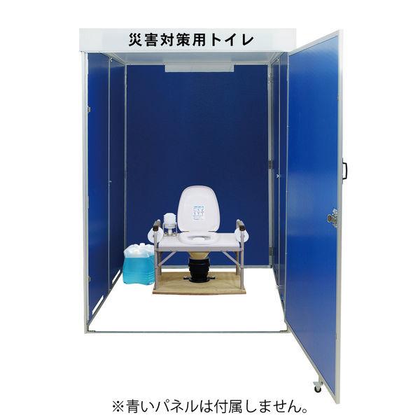 災害用マンホール直結 簡易水洗式折畳トイレ台座 6070 東京都葛飾福祉工場 (直送品)